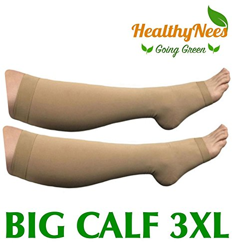 4f74fe8fc2a 20-30 mmhg compression grade - provides 20-30 mmHg compression grade helps  with leg circulations and reduce swelling. Made for big   wide calf sizes  ...
