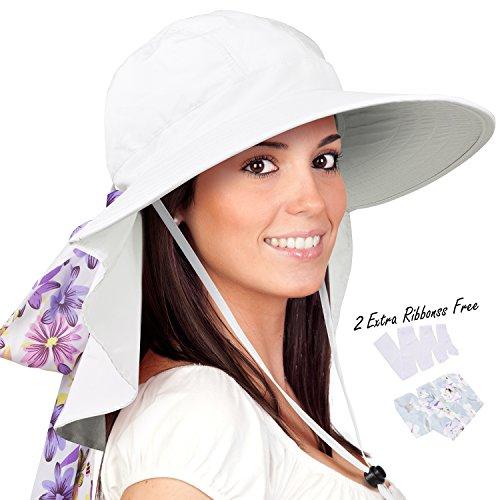 d4737d383d5 Siggi Summer Bill Flap Cap UPF 50+ Cotton Sun Hat with Neck Cover ...
